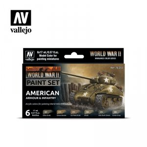 Vallejo 70203 WWII American Armour & Infantry 6x17ml