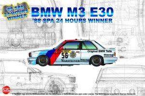 NuNu 24017 Racing Series BMW M3 E30 Group A 1988 Spa 24 Hours Winner 1/24