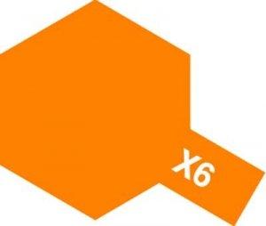 Tamiya X6 Orange (81506) Acrylic paint 10ml