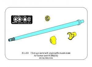 Aber 35L-233 7,5cm gun barrel with single baffle muzzle brake for German Tank VK3002(DB) (1:35)
