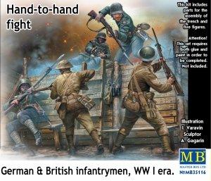 Master Box 35116 Hand-to-hand fight German & British infantrymen WW I era