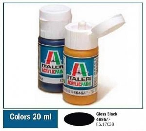 Italeri 4695 GLOSS BLACK 20ml
