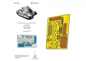Microdesign MD 035408 FCM 36 detail set ICM 1/35