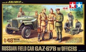 Tamiya 89767 Russian Field Car GAZ-67B w/Officers (1:48)