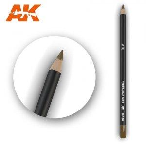 AK Interactive AK 10030 Watercolor Pencil STREAKING DIRT