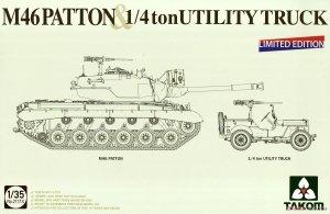 Takom 2117X M46 Patton & 1/4 ton Utility Truck 1/35