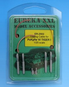 Eureka XXL ER-2502 Towing cable for Pz.Kpfw.VI Tiger Ausf.E Tank 1/25