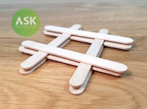 ASK T0071 Wooden Stick 114 x 10 mm (8 pcs)