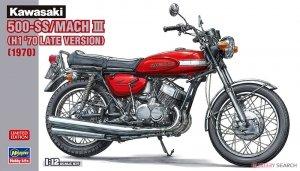 Hasegawa 21731 Kawasaki 500-SS/MACH III (H1 '70 Late Version) (1970) 1/12
