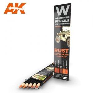 AK Interactive AK 10041 RUST & STREAKING: EFFECTS SET