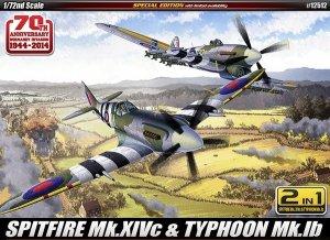 Academy 12512 SPITFIRE Mk.XIVc TYPHOON Mk.Ib (1:72)