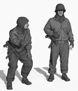 Panzer Art  FI35-140 US Army tankers in Ardennes set  1/35