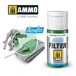 Ammo of Mig 0826 ACRYLIC FILTER Phthalo Green 15 ml