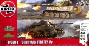 Airfix 50186 Tiger I vs Sherman Firefly Vc - Gift Set 1/72