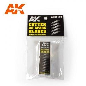 AK Interactive AK 9011B CUTTER 20 SPARE BLADES