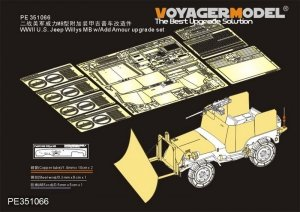 Voyager Model PE351066 WWII U.S. Jeep Willys MB w/Add Amour upgrade set for Takom 1/35