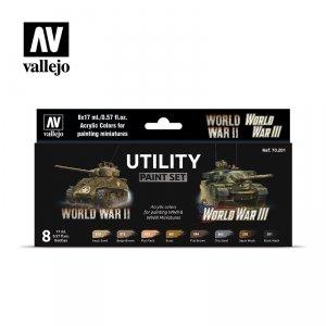 Vallejo 70201 Utility Paint Set WWII & WWIII 8x17ml
