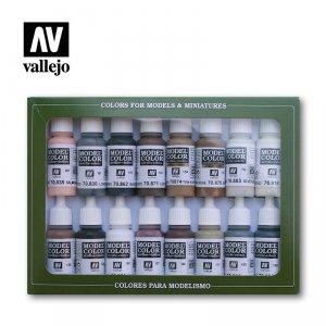 Vallejo 70144 Model Color - Equestrian Colors Set 16 x 17ml