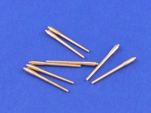 Aber 1:700L-01 Set of 8 pcs 380 mm long barrels for turrets without antiblast covers ships Richelieu, Jean Bart 1/700
