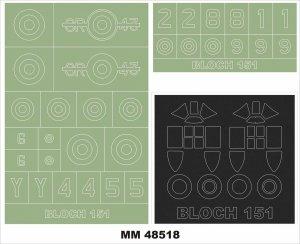 Montex MM48518 BLOCH 151 DORA WINGS 1/48