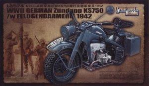Great Wall Hobby L3524 WWII German Zundapp KS750 /w Feldgendarmerie 1942 1/35