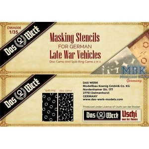 Das Werk DWA006 German Late War Masking Stencils 1/35