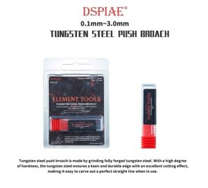 DSPIAE PB-30 3.0mm Tungsten Steel Push Broach / Rysik ze stali wolframowej