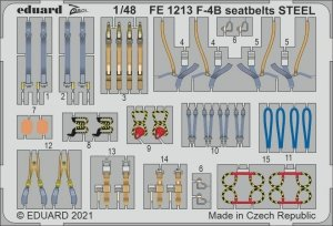 Eduard FE1213 F-4B seatbelts STEEL TAMIYA 1/48