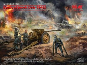 ICM DS3505 Battle of Kursk (July 1943) (T-34-76 (early 1943), Pak 36(r ) with Crew (4 figures)) 1/35