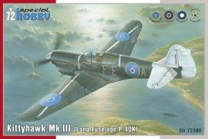 Special Hobby 72380 Kittyhawk Mk. III P-40 K Long Fuselage 1/72