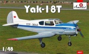 A-Model 04807 Yak-18T Blue Aeroflot 1:48