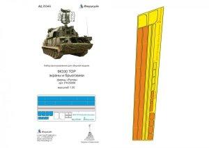 Microdesign MD 035404 9K330 TOR, Fenders detail set Panda 1/35