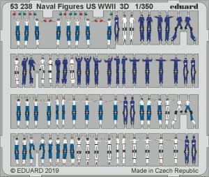 Eduard 53238 Naval Figures US WWII 3D 1/350