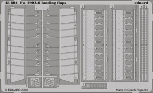 Eduard 48604 Fw 190A-6 landing flaps 1/48  (HASEGAWA)