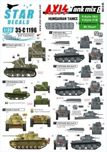 Star Decals 35-C1196 Axis Tank mix # 6 1/35