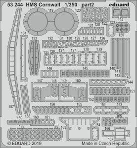 Eduard 53244 HMS Cornwall 1/350 TRUMPETER