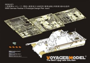 Voyager Model PE351071 WWII German Panther II Prototype Design Plan basic for Amusing Hobby 1/35