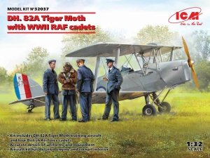 ICM 32037 DH. 82A Tiger Moth with WWII RAF cadets 1/32