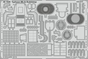 Eduard 491028 Typhoon Mk. Ib Bubbletop 1/48 HASEGAWA, ITALERI