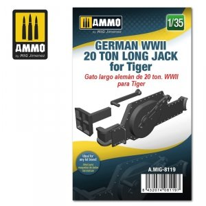 Ammo of Mig 8119 German WWII 20 ton Long Jack for Tiger 1/35