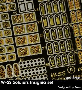 RADO Miniatures RDM16PE01 W-SS Soldiers Insignia Set - Zestaw Fototrawiony 1/16
