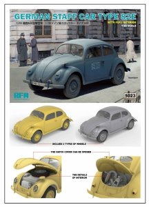 Rye Filed Model 5023 German Staff Car Type 82E with full interior 1/35
