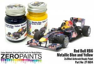 Zero Paints ZP-1604 Red Bull RB6 Metallic Blue and Yellow Paint Set 2x30ml
