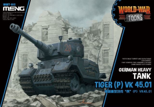 Meng Model WWT-015 World War Toons Tiger (P) VK 45.01 Germany Heavy Tank