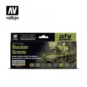 Vallejo 71613 SRussian Greens (1928's to Present) 8 x 17ml