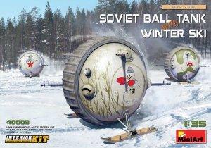 MiniArt 40008 SOVIET BALL TANK w/ WINTER SKI. INTERIOR KIT 1/35