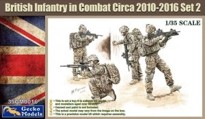 Gecko Models 35GM0016 British Infantry in combat Circa 2010-12 SET 2 1/35