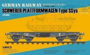 Sabre 35A02 German Railway Schwerer Plattformwagen Type SSys 1/35