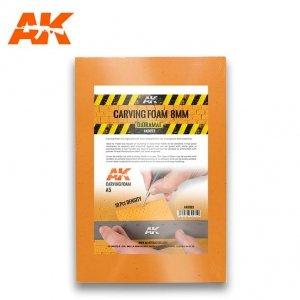 AK Interactive AK 8093 CARVING FOAM 8MM A5 SIZE (pianka do rzeźbienia)
