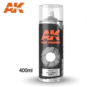 AK Interactive AK 1010 FINE PRIMER GREY SPRAY 400ml
